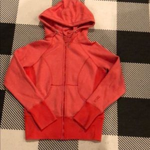 Zella hoodie large coral resigned after the lulu